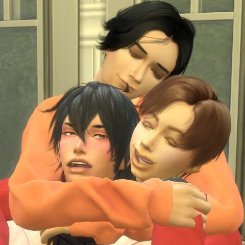 思った以上の兄組頬寄せでしたー(๑˃́ꇴ˂̀๑)♡さすが横尾さん!