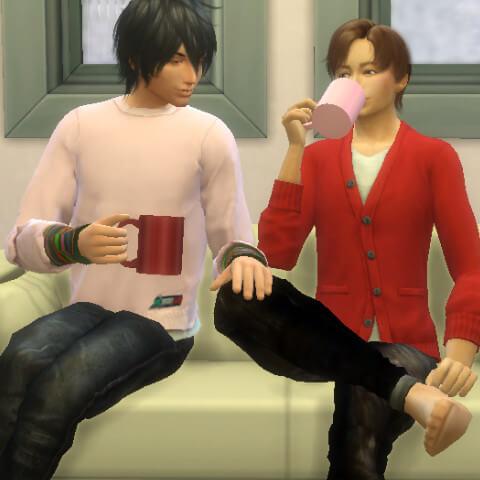ねぇ太輔さん、このタイミングで緑茶飲もうかなって…もう(*ˊ艸`*)