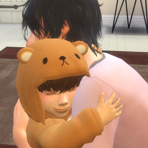 朝から子ぐま抱っこしているたいぴさん♡