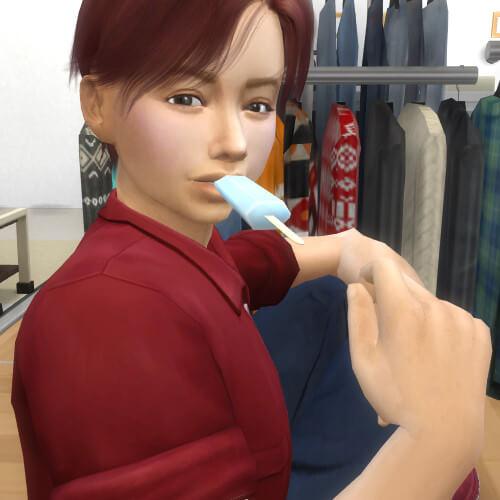 MステにてHANDS UP初披露(⁎˃ᴗ˂⁎)北山くんアッシュになってた~(*ˊᗜˋ*)アイスを食べるみっくん♡